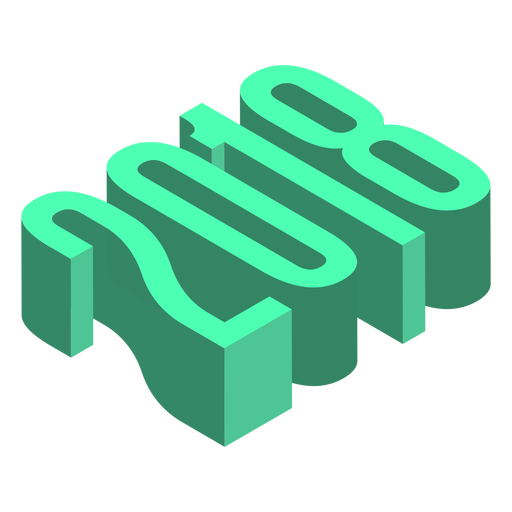 2018 3d green logo Transparent PNG