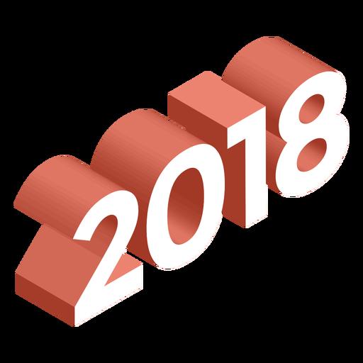 2018 3d logo Transparent PNG