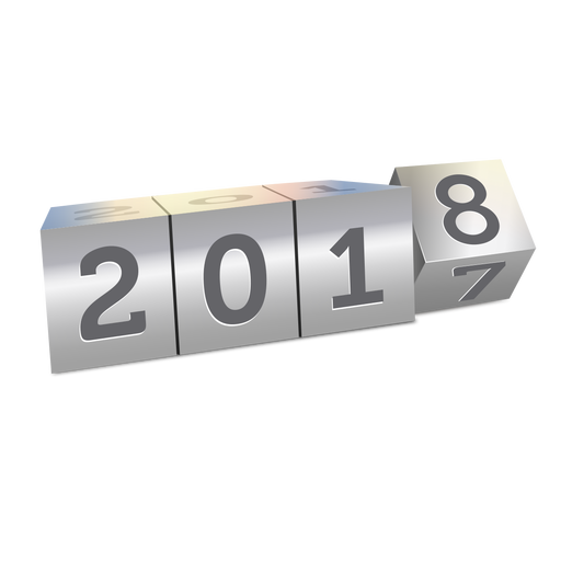 2018 changing year Transparent PNG