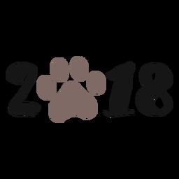 Logotipo do ano 2018 do cão 2018