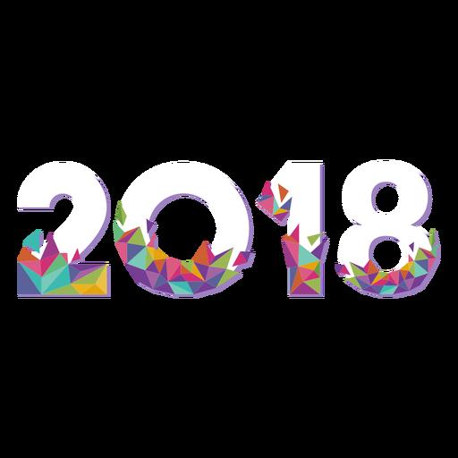 2018 Geometric Origami Transparent PNG