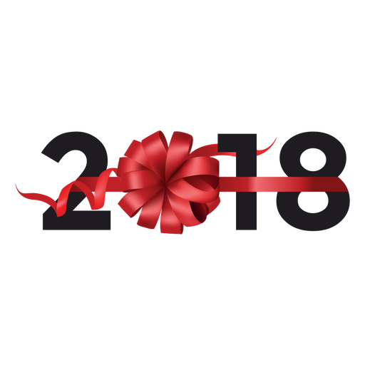Presente de 2018 Transparent PNG