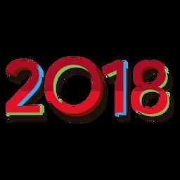2018 vermelho