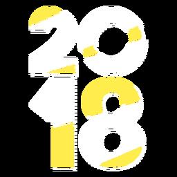 Ano de 2018 amarelo