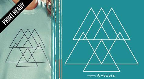 Diseño de pirámide abstracta t-shit