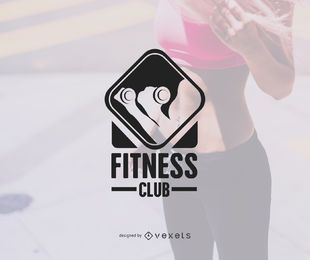 Gym logo badge template