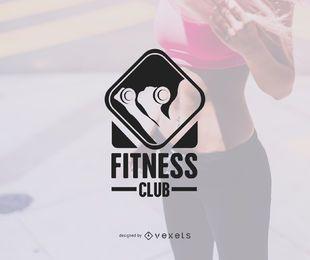 Modelo de logotipo do ginásio