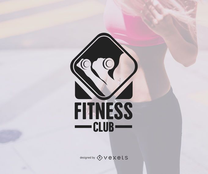 Plantilla de insignia de logotipo de gimnasio