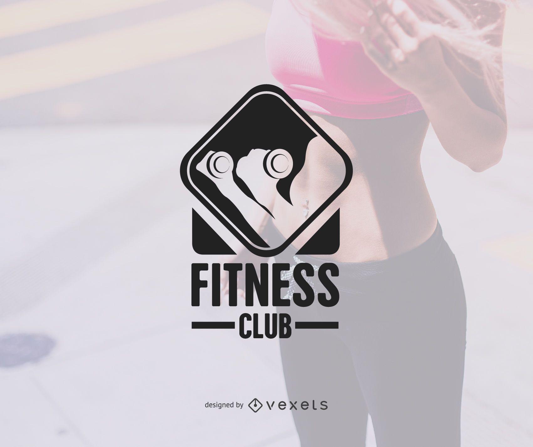 Gym logo badge template