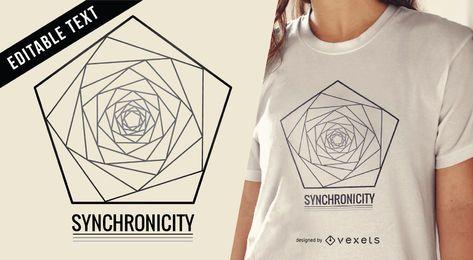 Diseño de camiseta de ilustración de geometría sagrada.