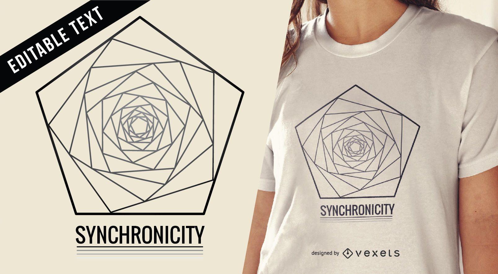 Sacred geometry illustration t-shirt design