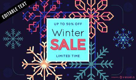 Venta de diseño de cartel de invierno.