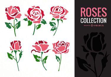 Coleção de ilustração rosa