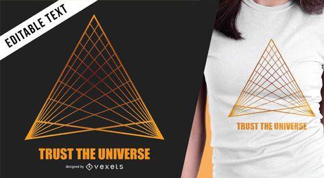 Diseño de camiseta de triángulo del universo.