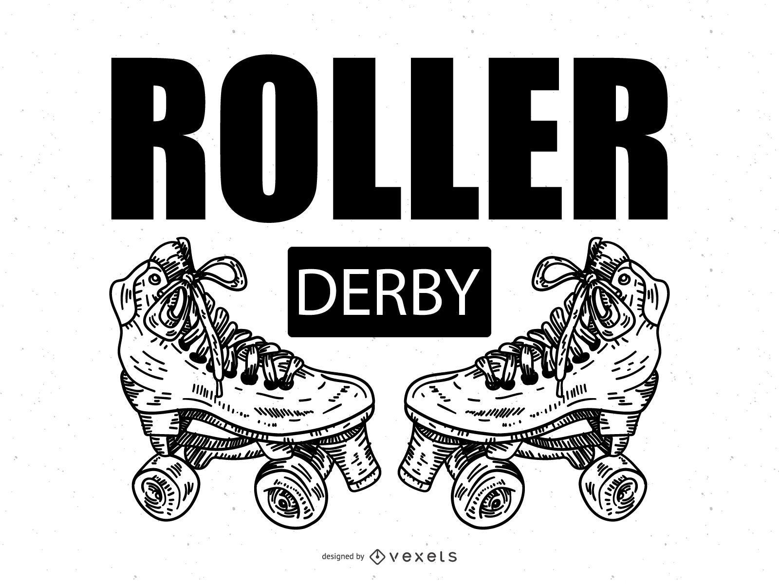 Roller Derby poster illustration