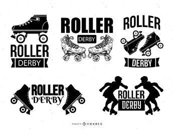Conjunto do modelo de logotipo do Roller Derby