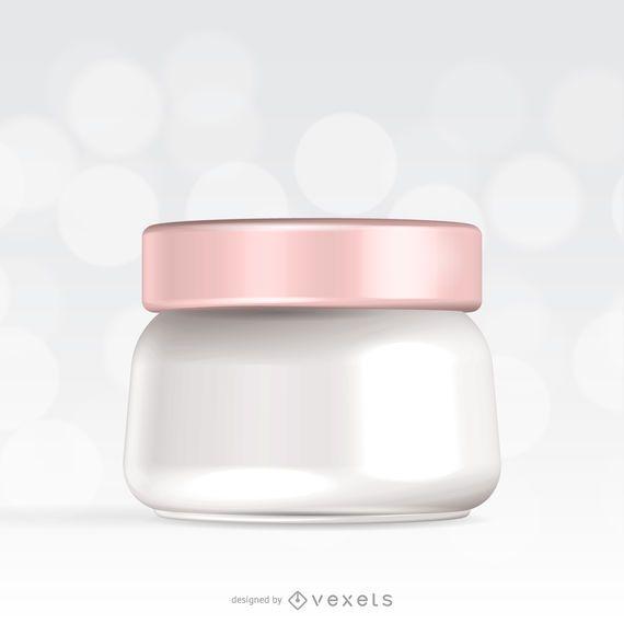 Ilustración de maqueta de crema de piel