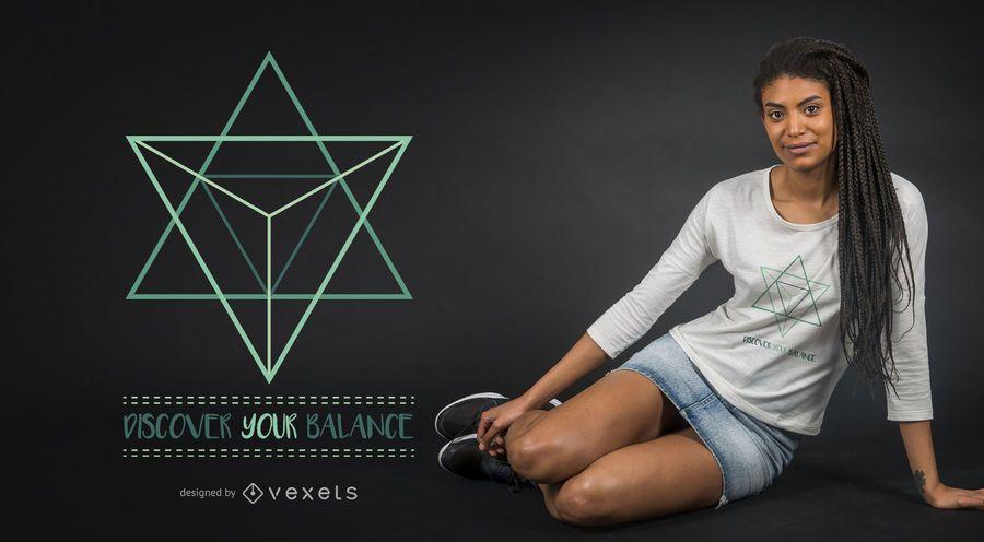 Balance sacred geometry t-shirt design