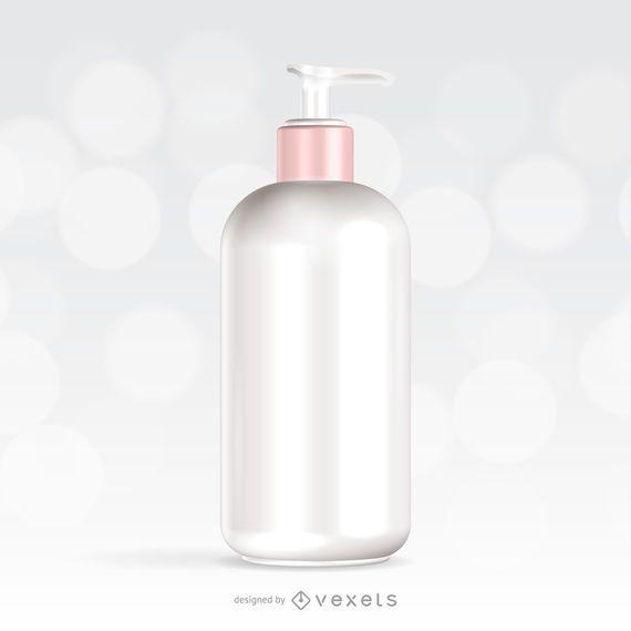 Hautpflege-Creme-Modell