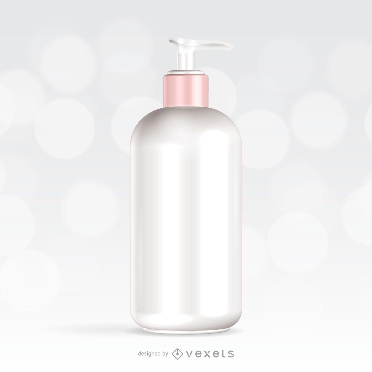 Skincare cream packaging mockup