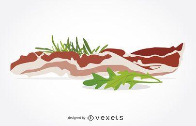 Ilustração de bacon