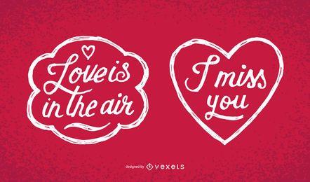 Mensajes manuscritos del Día de San Valentín