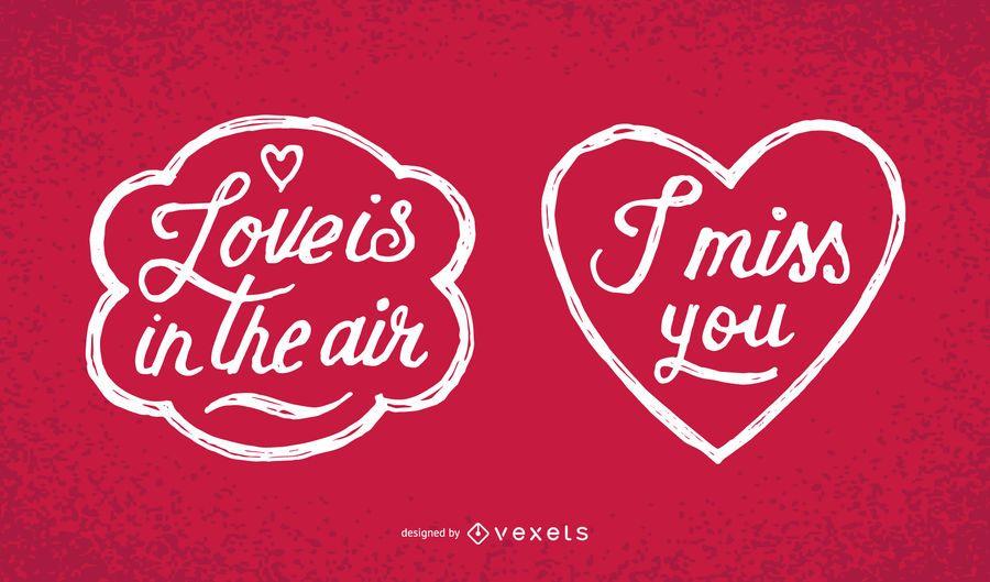 Mensagens manuscritas do Dia dos Namorados