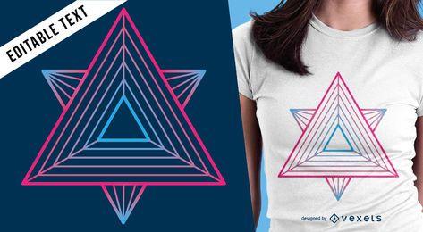 Diseño colorido de camiseta de geometría sagrada