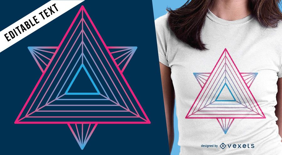 Design de t-shirt de geometria sagrada colorida