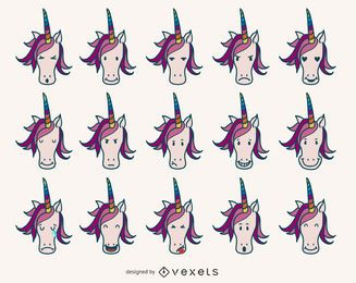 Unicorn emoji collection