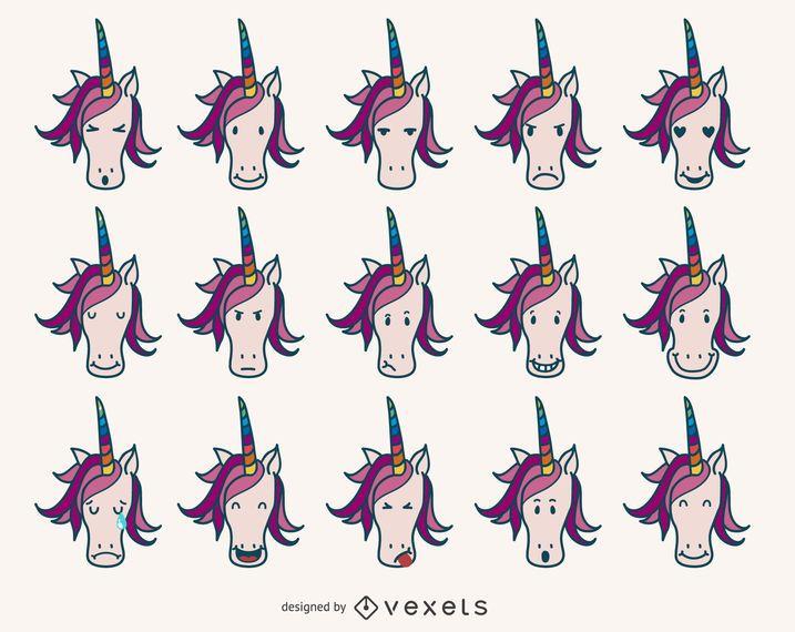 Unicorn emoji collection