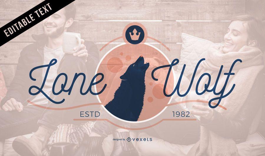Design de modelo de logotipo de lobo
