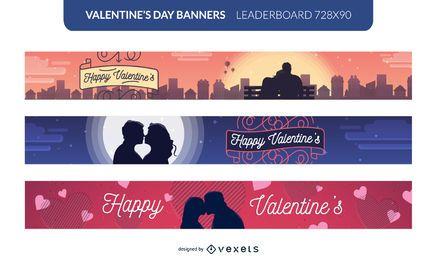 Conjunto de banner de San Valentín