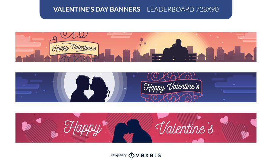 Valentinstag-Banner gesetzt
