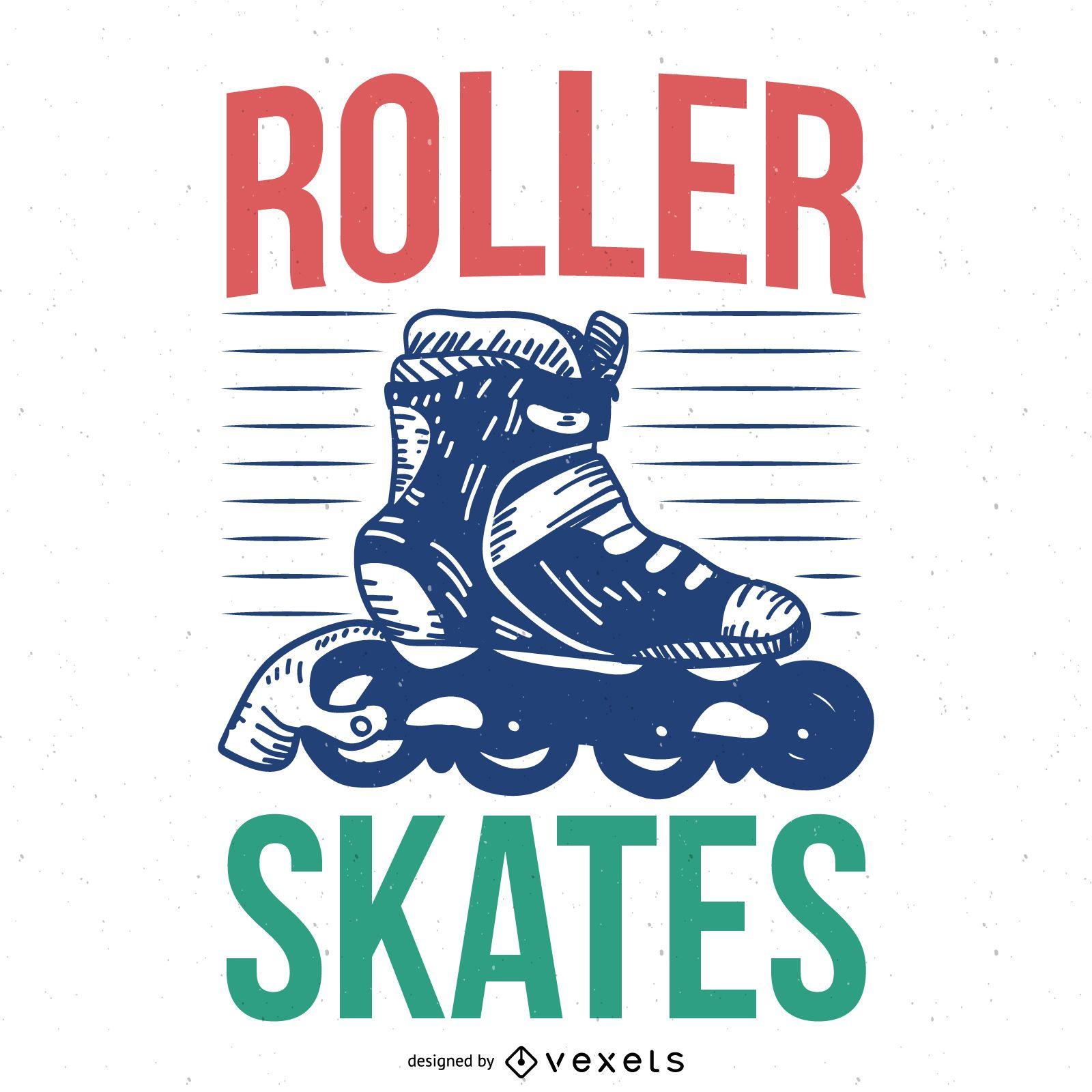 Roller skates poster design
