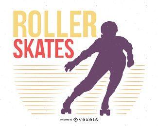 Flyer de patinaje sobre ruedas