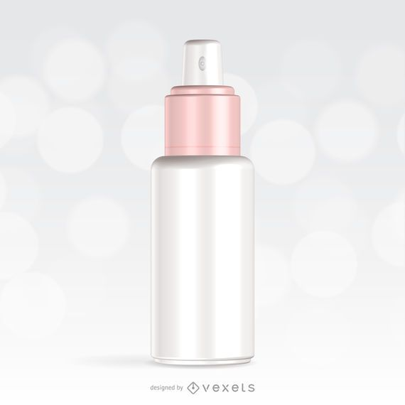 Diseño de maqueta de embalaje de aerosol