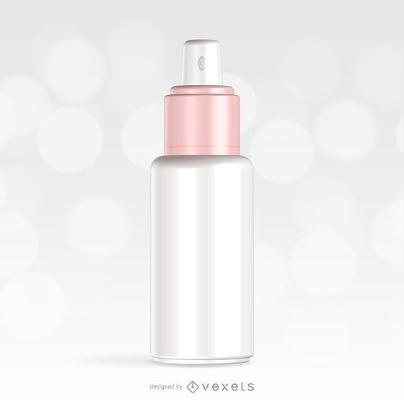 Projeto de maquete de embalagem de spray