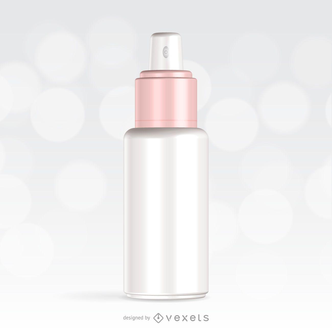 Spray packaging mockup design