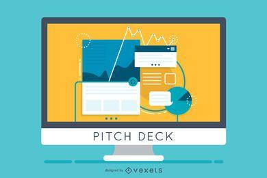 Ilustração de apresentação de baralho de pitch