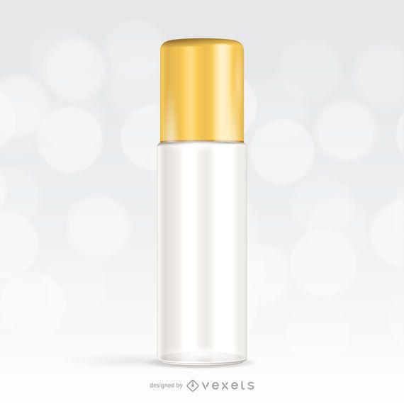 Maqueta para un envase cosmético.