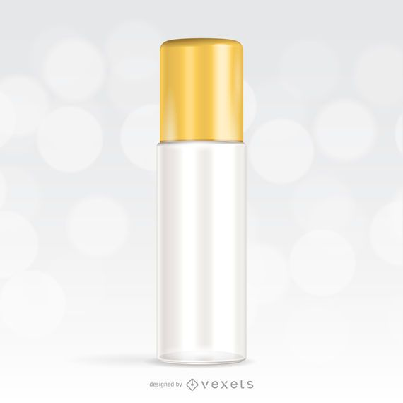 Maqueta para un paquete cosmético
