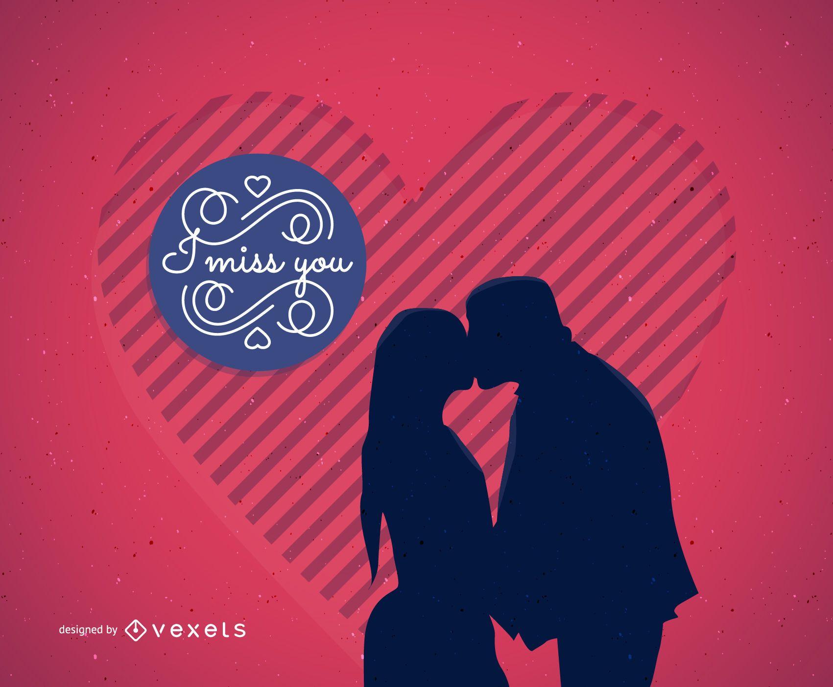 Tarjeta ilustrada de San Valentín
