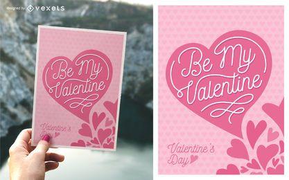 Tarjeta de felicitación linda del día de tarjeta del día de San Valentín