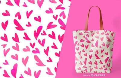 Design de padrão de coração sem costura