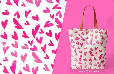 Diseño de patrón de corazón sin costuras