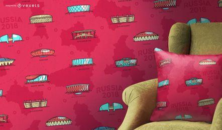 Padrão dos estádios da Rússia 2018