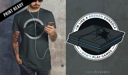 Design de t-shirt de jogos de Playstation