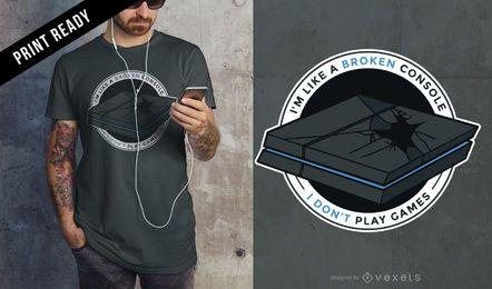 Design de t-shirt de jogos de Playstation