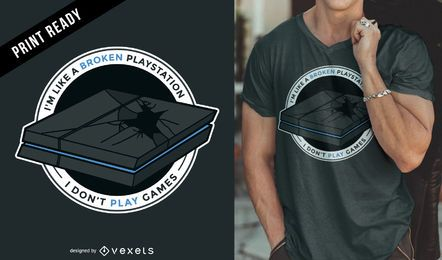 Playstation games t-shirt design